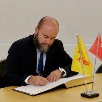 Visite de S.E. M. l'Ambassadeur de Suisse