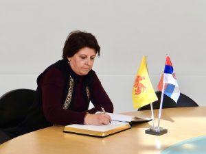 Visite de S.E. Mme l'Ambassadeur de Serbie